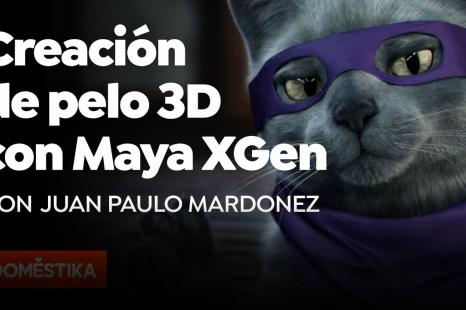 Creación de pelo 3D con XGen de Maya