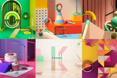 Composiciones abstractas con Cinema 4D